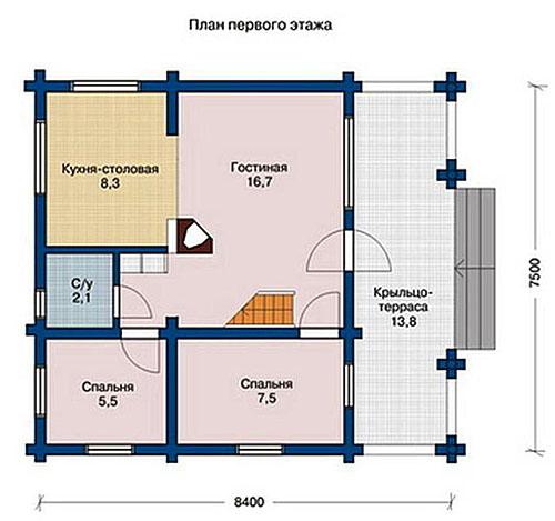дом 7 на 8 планировка фото